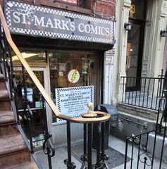 2019 St Mark's Comic Shop Closing Feb 24th NYC 1653A (Brechtbug) Tags: st marks comic shop closing 11 place new york ny comics store east side manhattan nyc 2019 city current location comicbook pulp pop culture funnies stores collectable toy toys facade front display window windows organization business books news newspaper paper papers under ground book downtown village saint mark s few blocks from thomkins square park 4th 02162019 fourth 8th street eighth