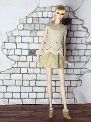 Sweetheart collection - beige lace shirt (Levitation_inc.) Tags: ooak doll handmade dolls outfit fashion fashions levitation levitationfashion sweetheart spring 2019 royalty poppy parker barbie cute romantic