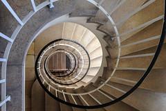 (Elbmaedchen) Tags: staircase stairwell stairs steps treppenhaus treppenauge treppe stufen roundandround upanddownstairs interior architecture architektur helix drehwurm hamburg hohenfelde