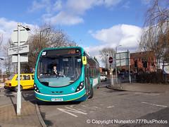 FJ64EUC 3315 Hinckleybus (Arriva Midlands East) in Nuneaton (Nuneaton777 Bus Photos) Tags: hinckleybus arriva midlands east wright streetlite fj64euc 3315 nuneaton
