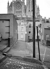 Lines / St Colman's, Cobh (nikolaijan) Tags: cobh fuji acros100 cork 120 gs645s 645 ireland