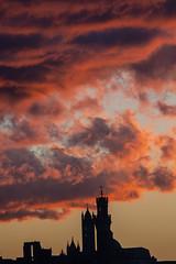 Clouds on fire on Siena (Antonio Cinotti ) Tags: nuvole clouds toscana tuscany italy italia siena sienna nikond500 nikon d500 sunset tramonto tamron tamron150600