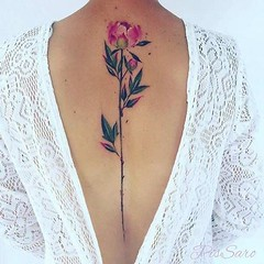 15 Outrageous Ideas For Your Flower Back Tattoos | flower back tattoos (franklin_randy) Tags: flower tattoos back cost designs for females guys tumblr lower arm neck shoulder