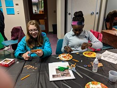 MVIMG_20190314_160658 (Billerica Public Library's Photostream) Tags: billericapubliclibrary youngadultprogram pie day pi table talk 314