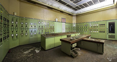 Doing overtime. (Left in the Lurch) Tags: urbex abandoned controlroom industry