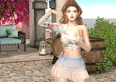Wellcome Spring (Rose Sternberg) Tags: liz shape for genus bento project baby face head maitreya lara body second life event paty shirt skirt soirée andore spring mesh ears the gum collection lipstick skinfair secret poses mayleen scandalize