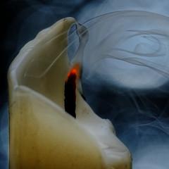 "Macro Mondays - Hot or Cold (PaulE1959) Tags: ""macro mondays"" hotorcold candle smoke wick wax bokeh hot cold nikon d5200"