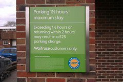 Challenge Friday 2019, week 12, theme visitors (1) - car park for Waitrose visitors (customers) only (karenblakeman) Tags: caversham uk challengefriday cf19 visitors waitrose carpark march 2019 reading berkshire sign