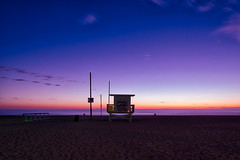ave 26. venice beach, ca. 2014. (eyetwist) Tags: eyetwistkevinballuff eyetwist ocean beach venice la sunset horizon amazing california oceanfrontwalk pacific lifeguard baywatch ave26 26thavenue westla angeleno socal nikon nikond7000 d7000 nikkor surf ofw los angeles processed photoshop postprocessed postprocessing filter nik colorefex wide saturated tower hut stand 1024mmf3545g venicebeach longexposure pacificocean losangeles neutraldensity nd bw 110 10stop color efex waves long seascape dusk 1024mm purple blue orange pink