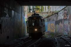 Charleroi (Jan Dreesen) Tags: hainaut henegouwen belgië belgique srwt tec charleroi tram mlc metro fantôme spookmetro abandoned ghost subway line station centenaire type s 9148 asvi sncv nmvb vicinal