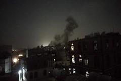 غارات جوية على العاصمة صنعاء (nashwannews) Tags: اليمن صنعاء غاراتجوية مطارصنعاءالدولي