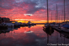 Urk 20-01-2019 (Chantal van Breugel) Tags: landschap zonsondergang reflecties kleuren haven urk flevoland canon5dmark111 canon24105 januari 2019