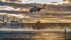 Heroes at work (Tidyshow) Tags: rnli coastguard harbour boat sea rescue fishing water cloud cloudscape sony scotland moray buckie a99ii sigma 24105 24105f4 hdr