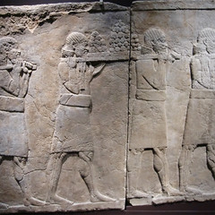 Assyrian Bas Relief of Palace Servants - Ashurbanipal Exhibition, British Museum, 5th February 2019 (Phil Masters) Tags: basrelief palaceservants assyrianfeast royalfeast assyrianroyalfeast britishmuseum 5thfebruary february2019 assyriansculpture london museum iamashurbanipalkingoftheworldkingofassyria iamashurbanipal kingoftheworld kingofassyria ashurbanipal assyria ashurbanipalexhibition