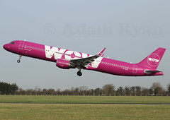 TF-PRO - WOW Air A321 (✈ Adam_Ryan ✈) Tags: dub eidw dublinairport 2019 dublinairport2019 canon 6d camera 100400liiisusm 100400 aviation plane planespotting ireland february wowair a321 tfpro sharklets takeoff liftoff runway28 runway