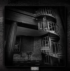 Any accession to a high office takes a tortuous staircase (Alain Hulot Pictures) Tags: bw escalier staircase colimaçon