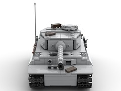 Panzer VI Tiger (Knackepeter) Tags: lego ww2 panzer tiger vi rebrickable bricklink studio ldd lxf wehrmacht wwii