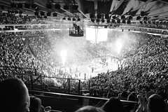 Farewell to Oracle 1 (The Digital Story) Tags: oraclearena goldenstatewarriors basketball derrickstory blackandwhite bw