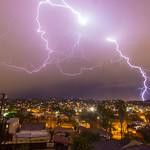 Lightning over Highland Park, Los Angeles, CA thumbnail