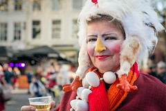 Dutch carnival 2019 (RuudMorijn-NL) Tags: 2019 breda adult beautiful beer carnaval carnival celebration cheerful chicken closeup colorful culture cute dutch eggs event expression face female fun funny happy joy long looking makeup netherlands northbrabant nose orange outdoor outdoors outside party people person portrait pretty red scarf smile smiling stranger street streetportrait style thirsty traditional white winter woman yellow vrouw kip eieren halsketting bier pils sjaal rood oranje grotemarkt kielegat ernstig geel straat portret kleurig kleurrijk straatportret