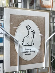 Chocolate bunny letterpress card (artnoose) Tags: holiday spring cards west bowl berkeley rack linoleum linoblock letterpress card easter season rabbit bunny chocolate brown