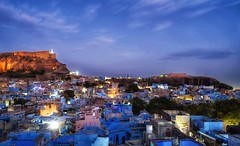 Blue Hour in the Blue City, Jodphur (The Elephant's Tales Photography) Tags: jodhpur rajasthan india travelphotography incredibleblue hour