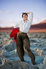 016_4176: A beautiful girl at Salt Flats (Shawn-Yang) Tags: beautiful girl salt flats badwater basin death valley national park california