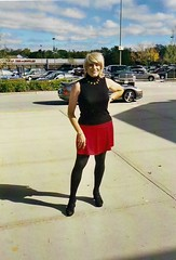 A Shopping Excursion From 2005 (Laurette Victoria) Tags: mall southridgemall shopping milwaukee skirt tights turtleneck blonde laurette woman