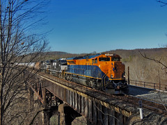 NS 64V (George Neat) Tags: 1071 jersey central heritge unit trestle tunnelton indiana county conemaugh line ns norfolk southern locomotive trains railroad tracks scenic scenery landscapes transportation freight bridge georgeneat patriotportraits neatroadtrips
