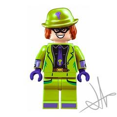 riddler (Jacob Customs98) Tags: lego batman dc supervillian riddler decal moc