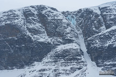 Icefall of Falesgaisa (kevin-palmer) Tags: norway scandinavianmountains arctic march winter snow snowy nikond750 frozen ice icy icefall waterfall nikon180mmf28 telephoto cloudy overcast norwegian skibotn falesgaisa tromscounty