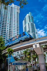 Moving Miami-8578 (islandfella) Tags: miami metro mover skyscrapers transit florida travel blue tower