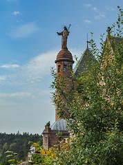 Sainte-Odile (balese13) Tags: 1855mm alsace basrhin d5000 montsteodile nikonpassion ottrot sainte vosges croix mont nikon statue vosgien 2550fav