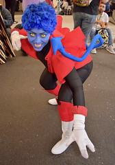 Nightcrawler (Randsom) Tags: newyork comiccon nycc javitscenter cosplay costume october nyc marvel comics 2018 superhero nightcrawler xmen mutant xforce elf cosplayer smile contacts bluehair