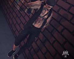 Shut Up !!!!! (akif611 Resident) Tags: taox tattoo signature slphotograpy swallow secondlife revoul lob jacket pants shoes skins shape glasses hat black sport model gianni daniel head