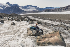Sodalen Gletscher 2; ascending the glacier. (apcmitch) Tags: moraine glaciers mountains greenland eastgreenland2014 extreme dolphin