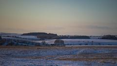 twilight (Redheadwondering) Tags: sonyα7ii snow salisburyplain wiltshire winter landscape trees minolta minolta100200mm sunset