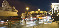 Budapest night (fivik) Tags: budapest hungary city building unesco worldheritage bridge longexposure street car lights budacastle nikon d7200