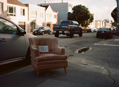 Sunset District // San Francisco (bior) Tags: red pentax645nii pentax645 pentax 645 mediumformat 120 sanfrancisco sunsetdistrict portra160nc expiredfilm kodakportra street chair couch sidewalk