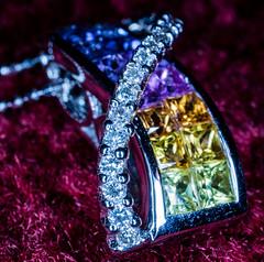 Sash necklace (alisonsage1) Tags: jewellery macromondays jewelry bling sparkle sparkly shiny necklace craftsmanship unusualjewellery