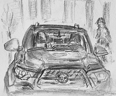 Looks Like 'Toyota'.. (Clashmaker) Tags: toyota drawing sketch