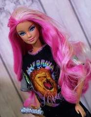 California Lion Love (Annette29aag) Tags: barbie doll pinkhair photography rocker