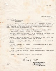 Riot at Sling Camp, March 1919 - List of those punished (Archives New Zealand) Tags: archivesnewzealand archives archivesnz wwi ww1 worldwarone worldwari firstworldwar nzef sling slingcamp riot mutiny bulford march 1919 disturbance labour labourhistory soldiers newzealandsoldiers nzhistory newzealandhistory