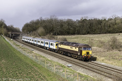 57312 at Besford [5Q78] 14.03.2019 (Wolfie2man) Tags: class57 bodysnatchers northernbelle 57312 class319 319002 besford drs directrailservices 5q78 railoperationsgroup rog