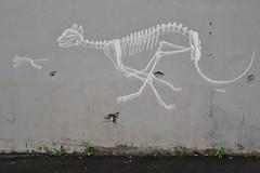Matt Thieu_1518 rue du Faubourg Saint-Antoine Paris 12 (meuh1246) Tags: streetart paris animaux mattthieu ruedufaubourgsaintantoine paris12 squelette chat souris