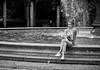 (graveur8x) Tags: woman candid street portrait girl fountain blackandwhite monochrome bw frankfurt germany deutschland streetphotography dof water drops night evening dark female frau outdoor outside city urban stadt canon canoneos5dmarkiv canonef135mmf2lusm 135mm f2 contrast