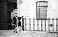 Lisbon, December 21, 2018 (Ulf Bodin) Tags: man urban lisbon lisboa people canonrf50mmf12lusm streetphotography outdoor lissabon canoneosr portugal urbanlife pt monochrome