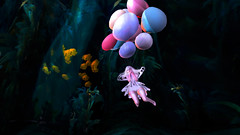 Underwater Nymph (HidekiSynth) Tags: underwater secondlife scr photoshop digitalphotography art cartoon media balloon