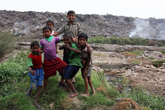 Children at a burning trash site in Kolkata / Calcutta (sensaos) Tags: asia india calcutta kolkata travel sensaos 2013 city urban children burning trash site social poverty street burningtrash