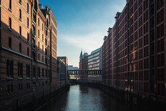 Good morning Hamburg (Ornaim) Tags: speicherstadt hamburg germany deutschland hafen hafencity city town street dock river water building architecture warehouse bridge morning summer vacation travel blue sky sun famous unesco world heritage cityscape urban nikon d850 1635 canal brooksfleet